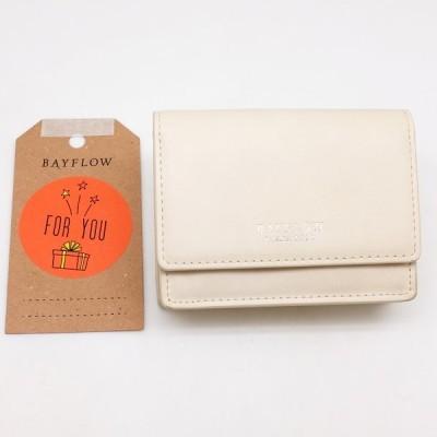 【未使用品】 ベイフロー(BAYFLOW)  Wホック財布 スネークチェーンウォレット ベージュ 【新古品】