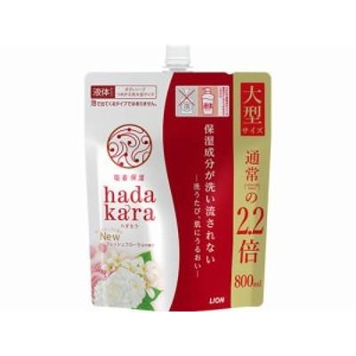 hadakara ボディソープ フレッシュフローラルの香り 替 大型 800ml