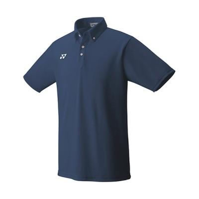 ヨネックス(YONEX) メンズ レディース テニスウェア ゲームシャツ ネイビーブルー 10438 019 半袖 トップス 部活 クラブ 練習 試合
