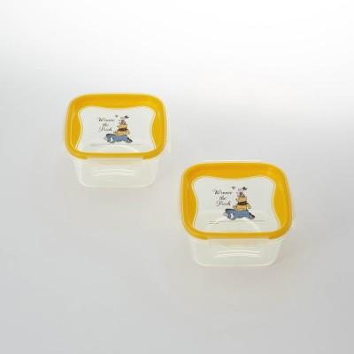 【おうちディズニー】食洗機・電子レンジ対応 保存容器同サイズ2個セット(選べるキャラクター)(ディズニー)