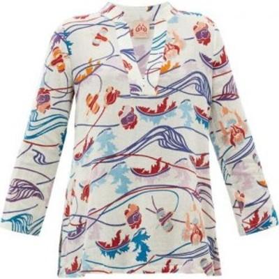 レ シレヌーセ ポジターノ Le Sirenuse. Positano レディース チュニック トップス Annalisa Magic Flower-print cotton-voile tunic top
