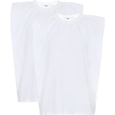 フランキー ショップ Frankie Shop レディース タンクトップ トップス Eva Set Of 2 Cotton Tank Tops White