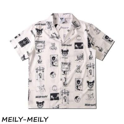 アロハシャツ メンズ トップス 半袖シャツ 開襟シャツ オープンカラーシャツ カジュアルシャツ かりゆしウェア 花柄 リゾート