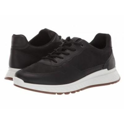 ECCO エコー レディース 女性用 シューズ 靴 スニーカー 運動靴 ST.1 Sneaker Black/Black【送料無料】