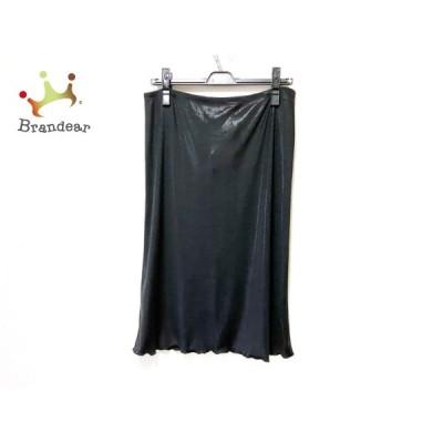 フェンディ FENDI スカート サイズ46 L レディース - 黒 ひざ丈/ラメ/ウエストゴム 新着 20201120
