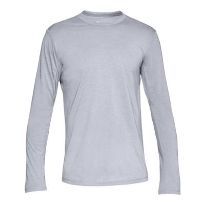 アンダーアーマー メンズ Under Armour Microthread Long Sleeve Shirt ロンT 長袖 Steel Full Heather