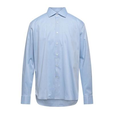 TRUSSARDI COLLECTION シャツ スカイブルー 46 コットン 97% / ポリウレタン 3% シャツ