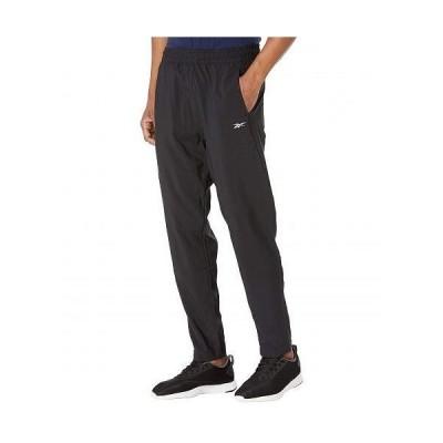 Reebok リーボック メンズ 男性用 ファッション パンツ ズボン Workout Ready Woven Trackster Pants - Black