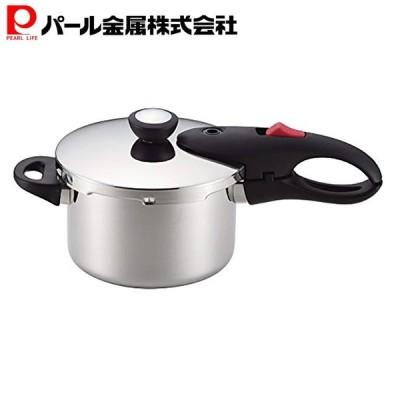 片手 圧力鍋 3.0L IH対応 レシピ付 軽量 単層 NEO HB-1734 パール金属