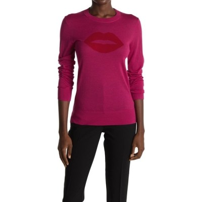 トリーナターク レディース ニット&セーター アウター Old Fashion Merino Wool Lip Graphic Sweater MOD MAGENT