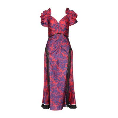 SELF-PORTRAIT 7分丈ワンピース・ドレス レッド 8 ポリエステル 100% 7分丈ワンピース・ドレス