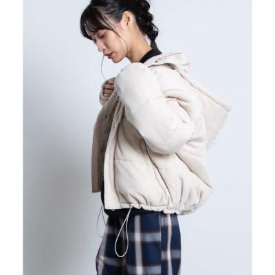 【ウィゴー】コーデュロイ中綿フードジャケット