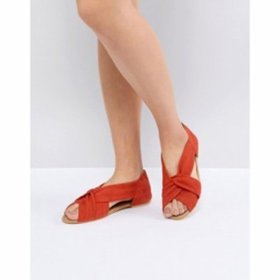エイソス サンダル・ミュール DESIGN Janel Suede Summer Shoes Red suede