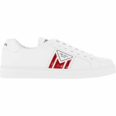 プラダ Prada メンズ スニーカー シューズ・靴 Logo Leather Sneakers White