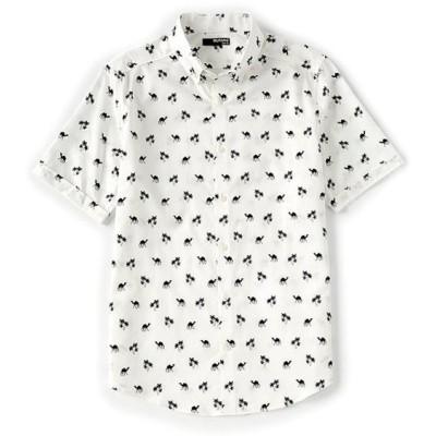 ムラノ レディース シャツ トップス Slim-Fit Camel Short-Sleeve Woven Shirt