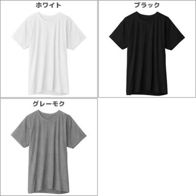 小スペース対応インナー 半袖丸首Tシャツ Mサイズ Lサイズ LLサイズ グンゼ GUNZE 綿100%[GH0013](ホワイト×M)