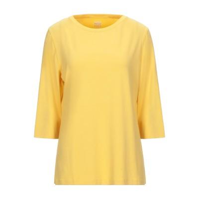 RIANI T シャツ イエロー 40 レーヨン 92% / ポリウレタン 8% T シャツ