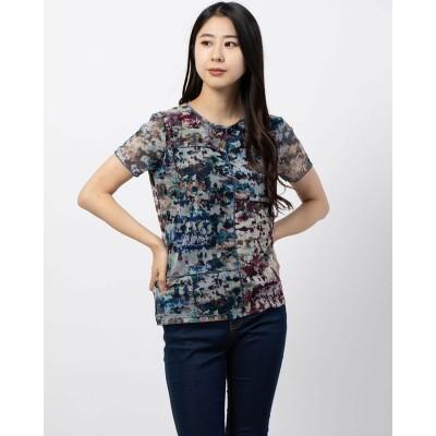 デシグアル Desigual チュール スリムTシャツ (ブルー)