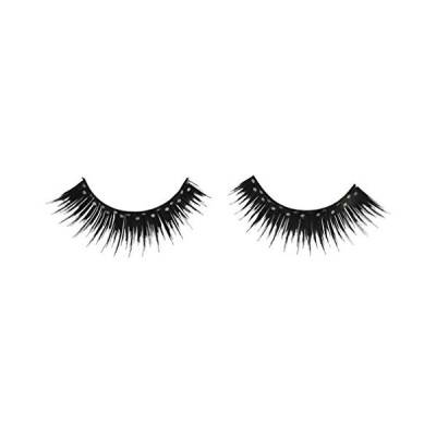 Costumes For All Occasions Ea89 Eyelashes Black Glitter