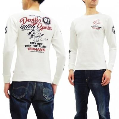 テッドマン サーマル長袖Tシャツ TEDMAN ワッフル ロンT TDTL-050 エフ商会 DEVIL'S SPIRIT'S オフ白 新品