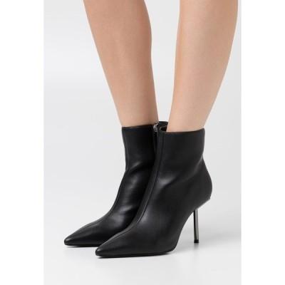 エヌ エー ケイ ディ ブーツ&レインブーツ レディース シューズ METAL STILETTO POINTY BOOTS - High heeled ankle boots - black