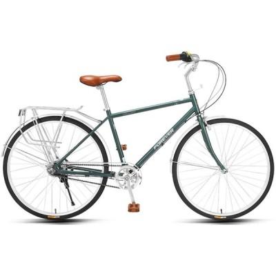 自転車、26インチの通勤用自転車、レトロなファッションの自転車、高炭素鋼のフレーム、内側の5速トランスミッション、大人と10代の若者向け / B /