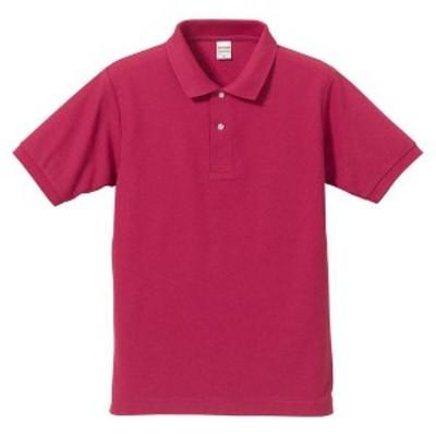 ユナイテッドアスレ カジュアルウェア 5.3オンスドライ CVC ポロシャツ(大きいサイズ XXXXL(3XO)) 16 トロピカルピンク ポロシャツ(