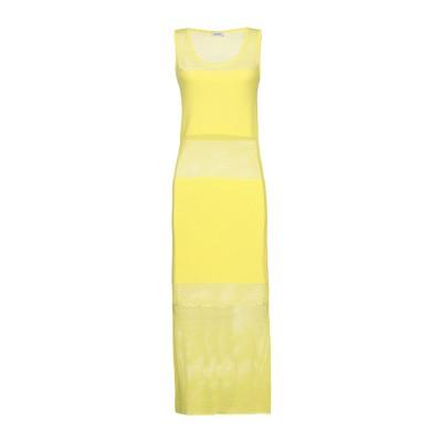 リュー ジョー LIU •JO 7分丈ワンピース・ドレス イエロー S レーヨン 80% / ナイロン 20% 7分丈ワンピース・ドレス