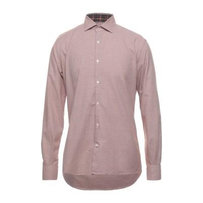 ブルックスフィールド BROOKSFIELD シャツ 赤茶色 40 コットン 100% シャツ