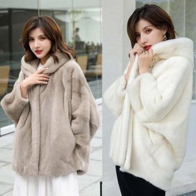 ショートコート 毛皮コート アウター 暖かい おしゃれ 防寒 ふわふわ 高級感 ファーコート 韓国風 厚手ジャケット カジュアル 大きいサイズ レディースコート