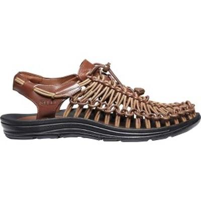 キーン メンズ サンダル シューズ KEEN Men's Uneek Premium Leather Sandal Brown