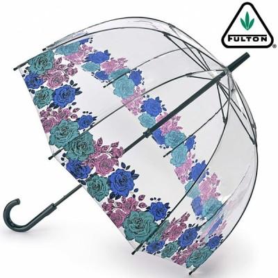 FULTON 傘 レディース バードケージ ムーディローズ 長傘 フルトン かさ バラ 花柄 フラワー フローラル
