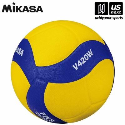ミカサ バレーボール バレー4号 練習球 黄/青 (V420W) [取り寄せ][自社](メール便不可)(P5倍)