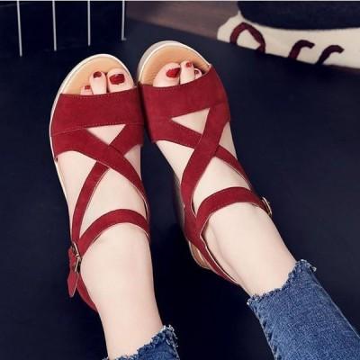 サンダル レディース シューズ 靴 厚底 ウェッジソール 履きやすい コンフォートサンダル オフィス 美脚