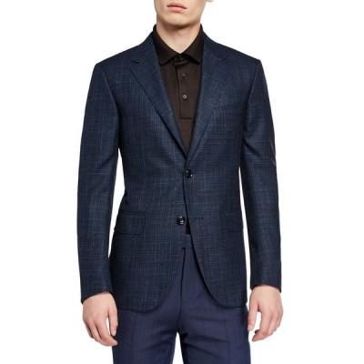 エルメネジルド・ゼニア メンズ ジャケット・ブルゾン アウター Men's Wool-Blend Check Regular-Fit Sport Coat