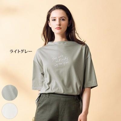 トップス プルオーバー レディース / レタープリントプルオーバー / 40代 50代 60代 70代 ミセスファッション シニアファッション 服