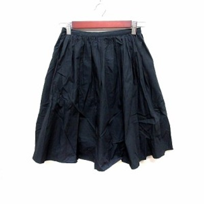 【中古】アーバンリサーチ ドアーズ URBAN RESEARCH DOORS スカート フレア ひざ丈 F 黒 ブラック /RT レディース