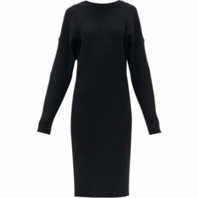 ボッテガ ヴェネタ Bottega Veneta レディース ワンピース ワンピース・ドレス Open-back ribbed-knit sweater dress Black