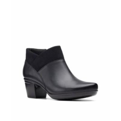 クラークス レディース ブーツ・レインブーツ シューズ Women's Collection Emslie Essex Boots Black Leather-Textile Combination