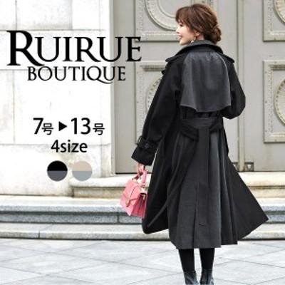【 送料無料 & 期間限定クーポン 】K808 コート ウールコート ロングコート アウター 大きいサイズ 50代 40代 30代 20代 レディース ミセ