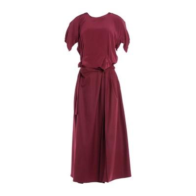 ロベルタフルラネット ROBERTA FURLANETTO 7分丈ワンピース・ドレス ガーネット 38 ウール 100% 7分丈ワンピース・ドレス