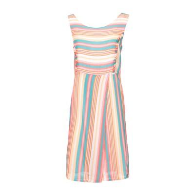 カフェノワール CAFèNOIR ミニワンピース&ドレス ピンク M レーヨン 100% ミニワンピース&ドレス