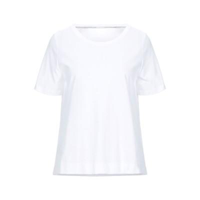 ANNA SERAVALLI T シャツ ホワイト 40 コットン 100% T シャツ