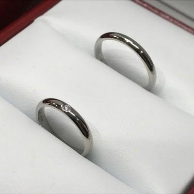 買得!【Cartier カルティエ】PT950ペアリング プラチナ ペアリング 2.9g/2.6g 美品 箱付【B233-1B233-2】