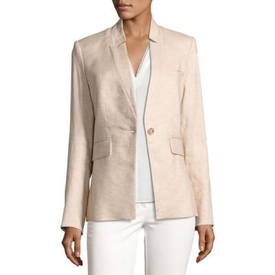 ヴェロニカ ベアード レディース ジャケット・ブルゾン アウター Linen-Blend Up-Collar Jacket