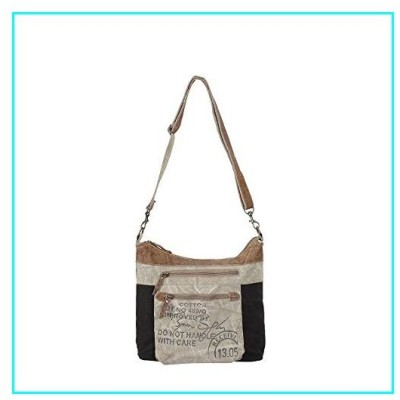 Myra Bags Double Zip Upcycled Canvas Shoulder Bag S-0904