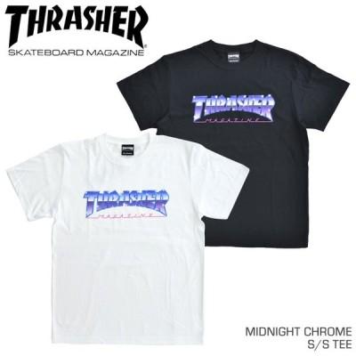 THRASHER スラッシャー Tシャツ MIDNIGHT CHROME S/S TEE 半袖 カットソー TH91228 単品購入の場合はネコポス便発送