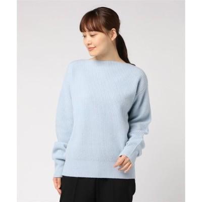 ニット Half cardigan boat neck knit CMA-9