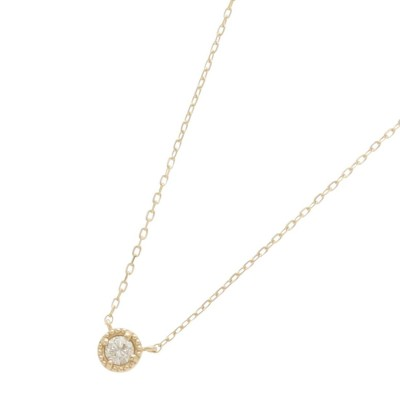 ココシュニック COCOSHNIK ダイヤモンド フチミル ネックレス (イエローゴールド)