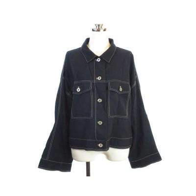 【中古】Cepo aolt ビッグシルエット ジャケット ブルゾン 長袖 ブラック 黒 M 【ベクトル 古着】